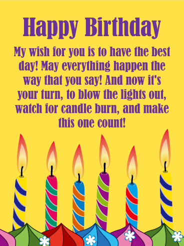 Make a Wish Candles - Happy Birthday Card for Everyone