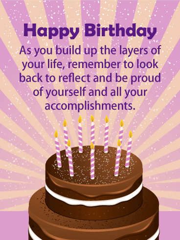 Be Proud of Yourself - Happy Birthday Card for Everyone