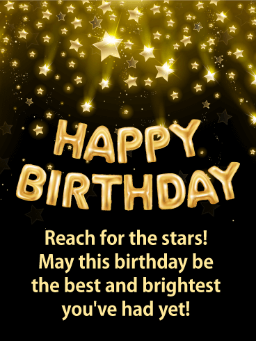 Reach for the Stars - Happy Birthday Card for Everyone