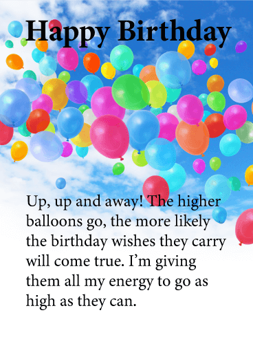 Colorful Balloons in the Sky - Happy Birthday Card