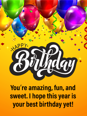 You're Amazing - Happy Birthday Card