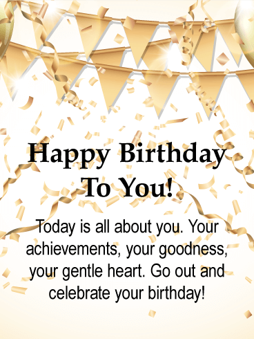 Today Is All About You Happy Birthday Card Birthday Greeting Cards By Davia