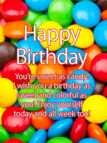 Sweet as Candy - Happy Birthday Card