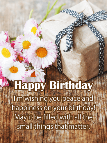 Wishing You Peace - Happy Birthday Card