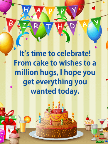 Million Hugs! Happy Birthday Card