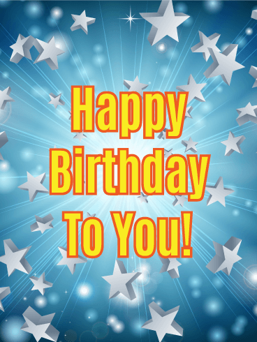 Full of Star Power - Happy Birthday Card