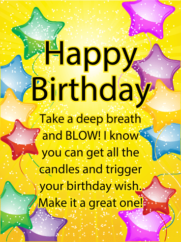 Make it a Great One - Happy Birthday Card