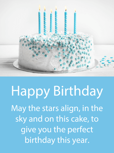 Have a Perfect Year - Happy Birthday Card