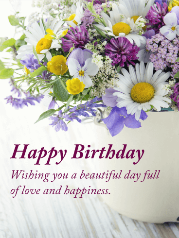 full of love happy birthday card - Happy Birthday Cards Flowers