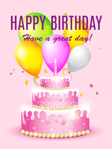 Cheerful Color Happy Birthday Card