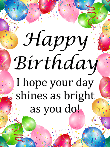 Have a Shine Day - Happy Birthday Card