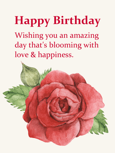 Wishing You a Blooming Day - Happy Birthday Card