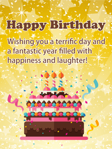 Incredible A Terrific Day Happy Birthday Card Birthday Greeting Cards Personalised Birthday Cards Paralily Jamesorg