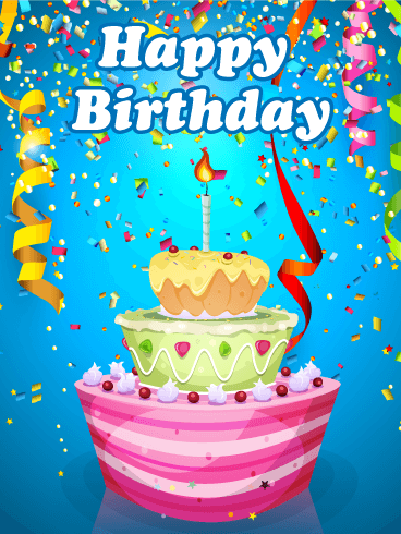 Amazing Party & Cake - Happy Birthday Card