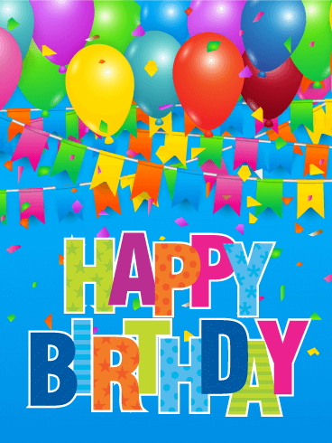 Big Celebration! Colorful Happy Birthday Card