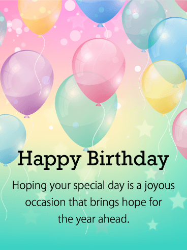 Pleasing Happy Birthday Balloon Card