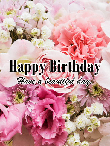 Alluring Flower Happy Birthday Card
