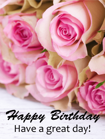 Lovely Rose Happy Birthday Card