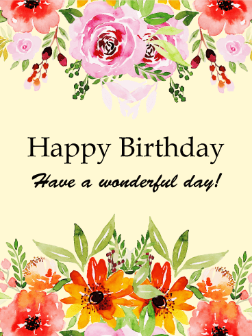Joyous Happy Birthday Flower Card