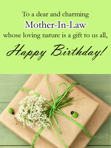 Simple Gifts - Happy Birthday Card for Mother-in-Law
