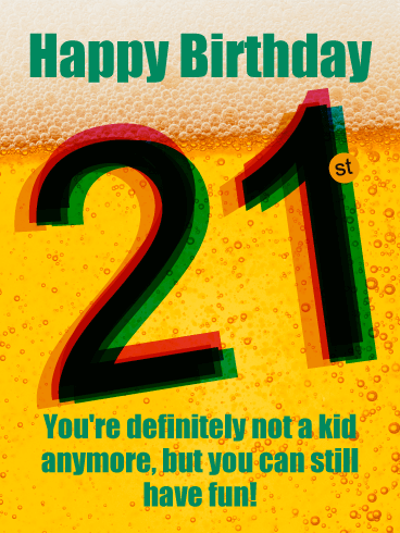 Cheers! Happy 21st Birthday Card