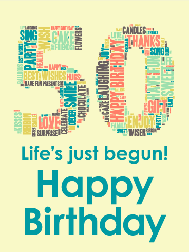 Life's Just Begun - Happy 50th Birthday