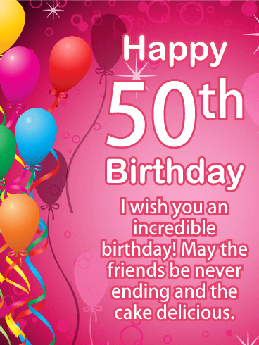 Heartfelt Happy 50th Birthday Card
