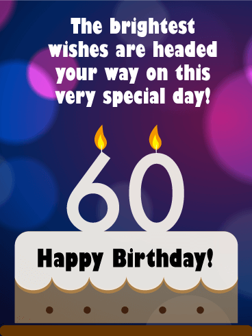 Chic Happy 60th Birthday | Birthday & Greeting Cards by Davia