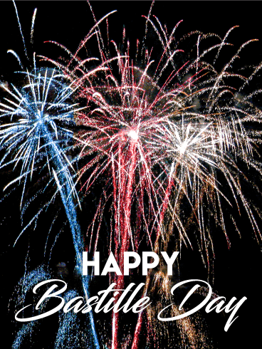 Fireworks Happy Bastille Day Card