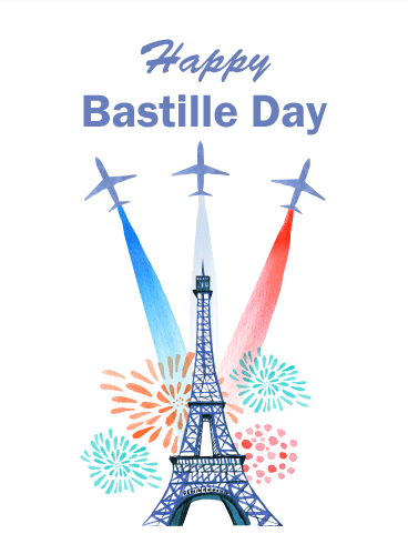 Time to Celebrate - Happy Bastille Day Card