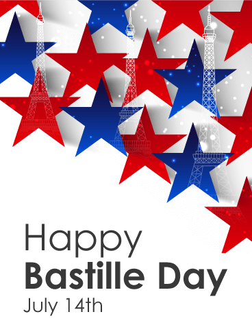 Full of Stars - Happy Bastille Day Card