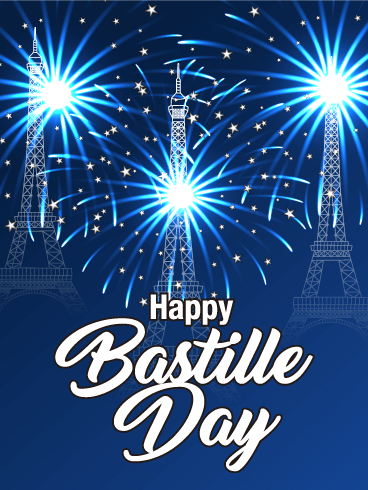 Let's Celebrate - Happy Bastille Day Card