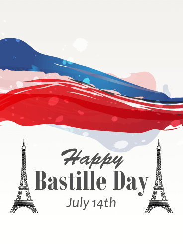 Artistic Happy Bastille Day Card