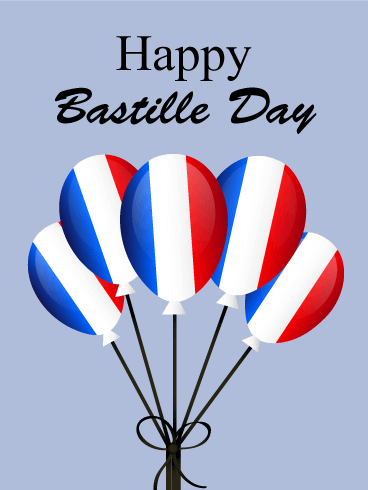 French Balloons - Happy Bastille Day Card