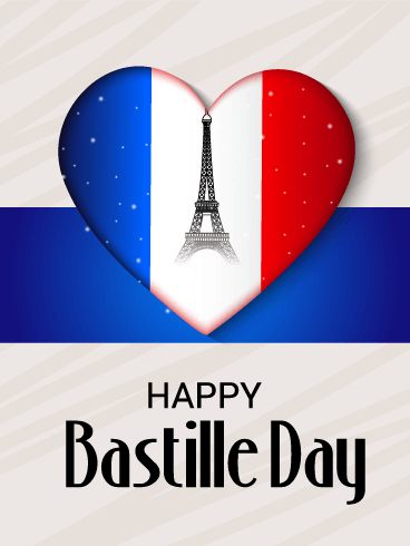 Love France - Happy Bastille Day Card