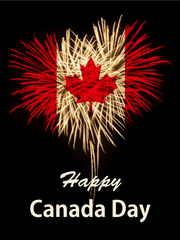 Time to Celebrate! Happy Canada Day Card