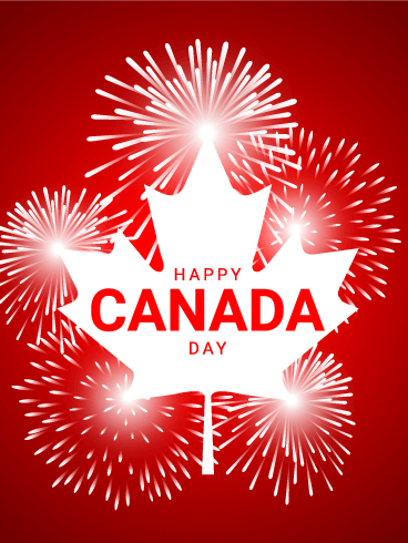 Let's Celebrate - Happy Canada Day Card