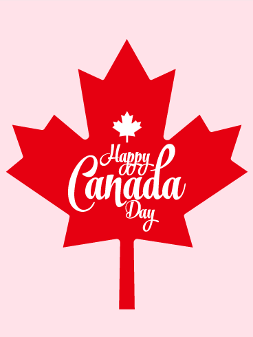 Single Maple Leaf - Happy Canada Day Card