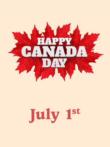Red Maple Leaves - Happy Canada Day Card