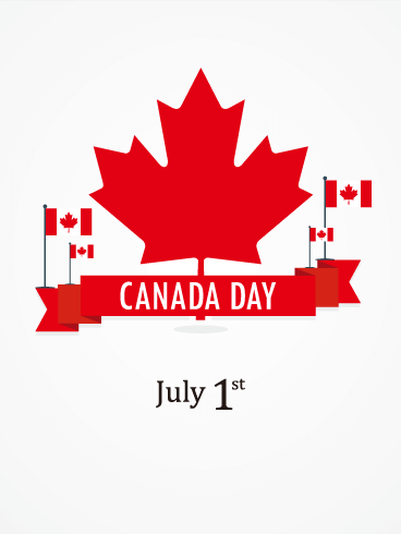 Red Ribbon - Happy Canada Day Card