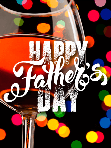 Colorful Lights - Happy Father's Day Card