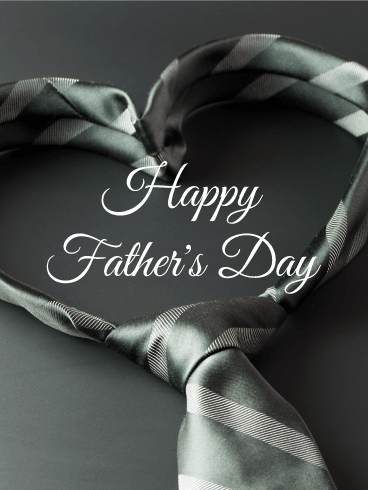 Heart Tie - Happy Father's Day Card