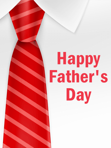 Red Tie - Happy Father's Day Card
