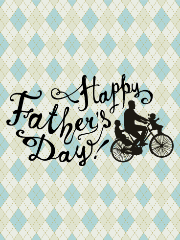 Ride with Dad - Happy Father's Day Card