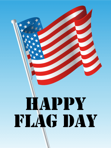Waving Flag Day Card