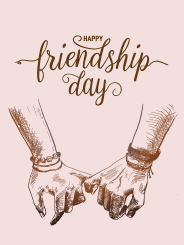 Holding Pinkies - Happy Friendship Day Card