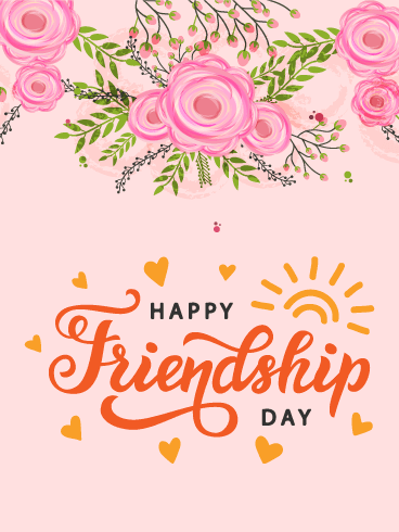 Friendship day cards 2019 happy friendship day greetings 2019 rose happy friendship day card m4hsunfo