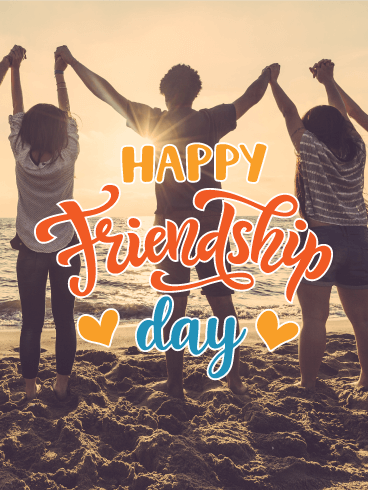 Sunset on the Beach - Happy Friendship Day Card