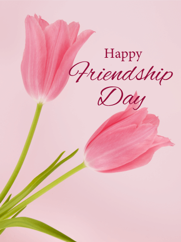 Tulip Happy Friendship Day Card