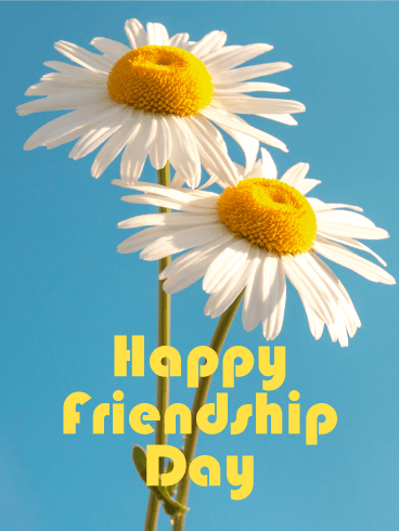 Daisy Happy Friendship Day Card
